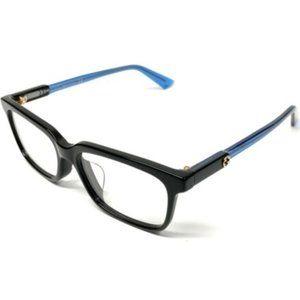Gucci Women's Black and Blue Eyeglasses!